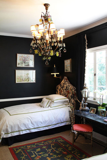Black walls Room with black walls