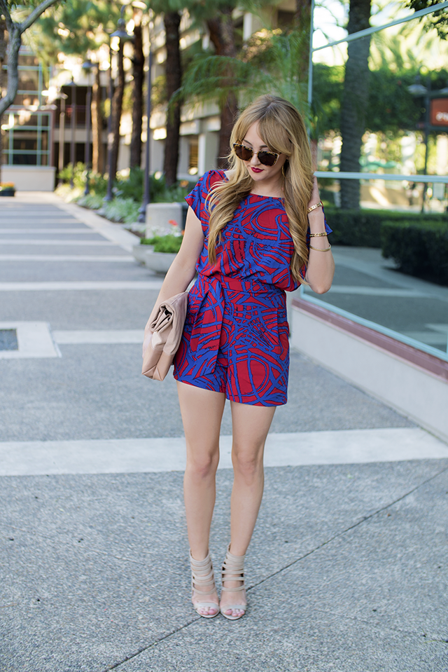 Red & Blue Romper