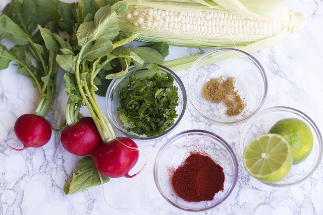 Recipe // Corn and Radish Salad