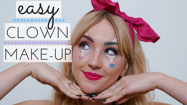 YouTube // EASY Cutesy Clown Halloween Make-Up Tutorial