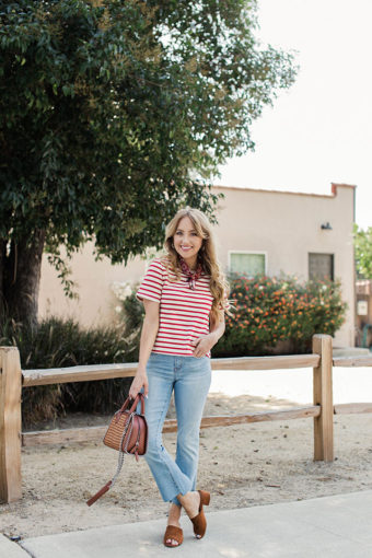 Stripes & Cropped Flares