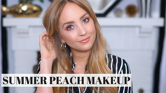 YouTube  |  Peachy Glow Summer Makeup + A GIVEAWAY