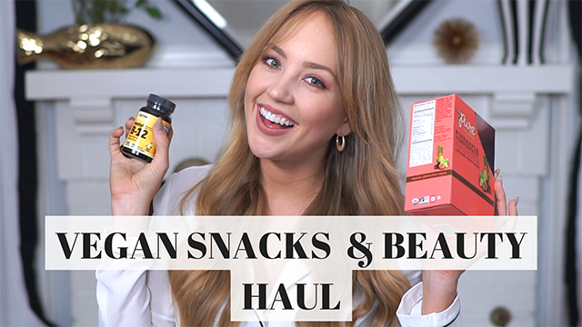 YouTube  |  Vegan Snacks & Beauty Haul