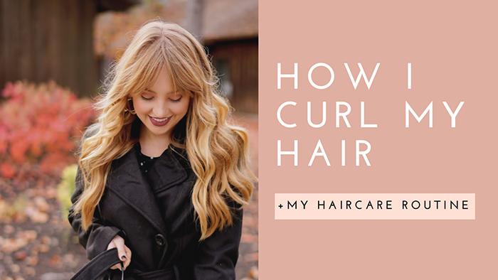 hannah hagler, youtube, haircare routine, how i curl my hair, mermaid waves, beach waves, vegan haircare, vegan hair products, cruelty-free hair products