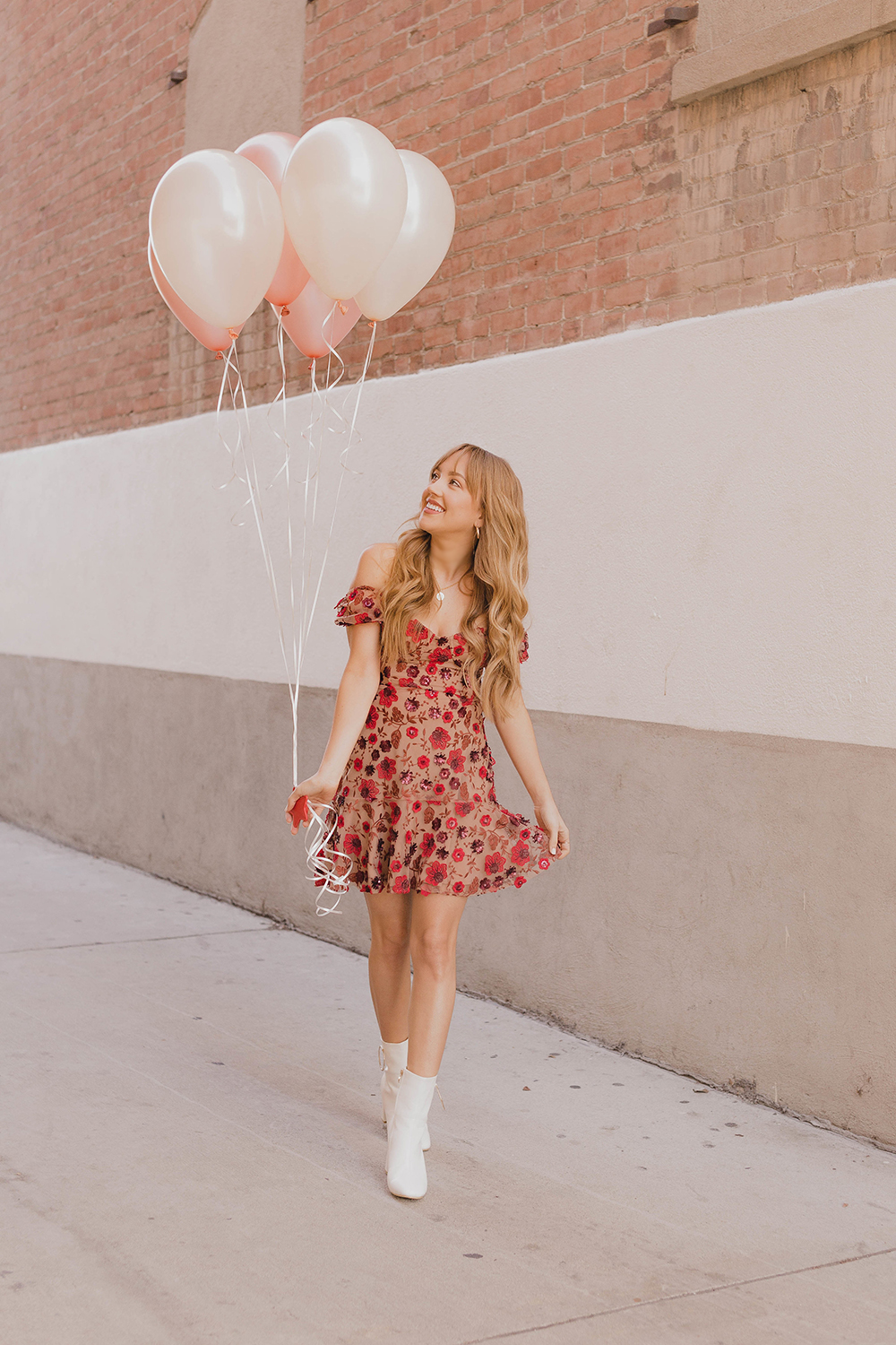 hello hannah, blog launch, hannah hagler, hannah hagler blog, vegan blogger, vegan blog, cruelty-free blog, cruelty-free blogger, for love and lemons amelia dress, how to style white booties, champagne lifestyle blog, hello hannah blog