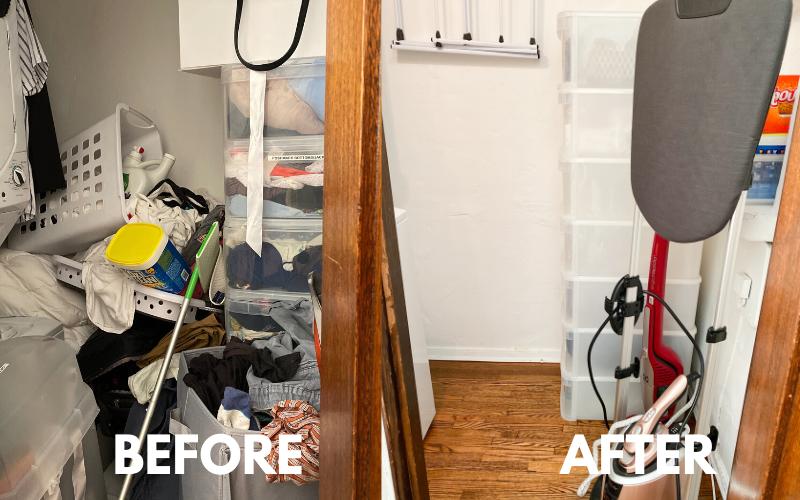 horderly, professional organizing, laundry room organizing