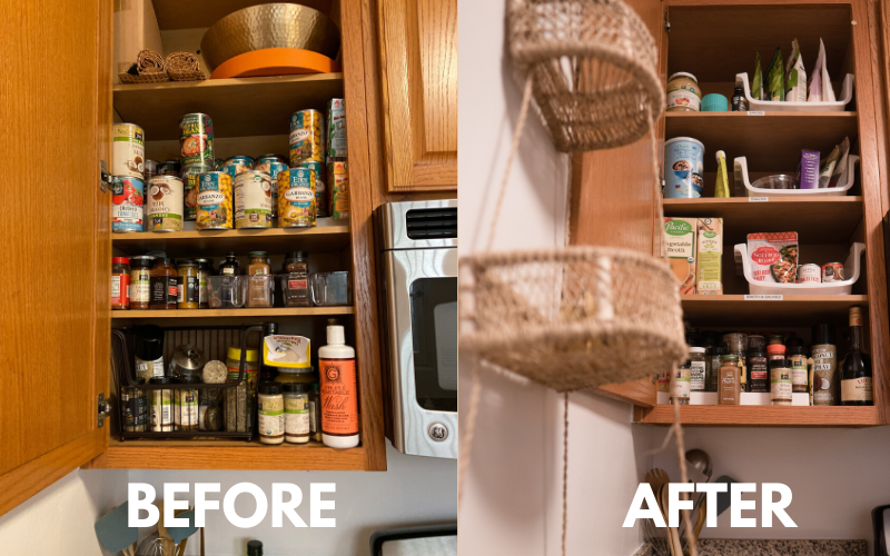 horderly, professional organizing, kitchen organization, spice rack, horderly southern california